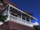 顺义铝合金雨棚 阳台遮阳棚 露台楼顶防雨阳棚 别墅庭院停车棚