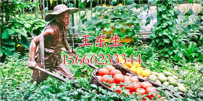 宁夏农业生态园雕塑_专业的农耕人物雕塑制作