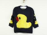2013韩版女童装厂家批发原来长袖针织卡通大黄鸭毛衣针织衫可爱