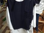 现货 韩国外贸原单新款女衬衣 宽松H版拼色长袖秋款女衬衫