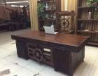 老船木办公桌椅会议桌电脑桌字画桌书画桌办公台前台定制