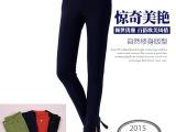 2015秋季新款女装 韩版时尚哥弟纹棉小脚裤女式修身显瘦休闲裤