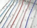 SS123mm 彩色加密水钻爪链 饰品服饰钻链手机美容DIY材料