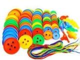 塑料穿线玩具 叠叠高串珠 动手动脑颜色形