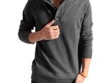 天天限量购新款男装毛衣批发韩版假两件立领毛衫线衫男针织衫代发