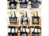 帆布包包2014新款韩版简约手提包学生女包字母潮包单肩大包购物袋