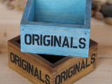特价ZAKKA木质制小收纳盒  首饰盒 迷你小盒子 化妆品收纳 蓝色