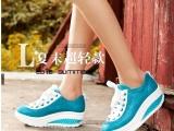 莫蕾蔻蕾292-1女式鞋厚底松糕鞋单鞋圆