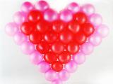 心型网格气球 造型制作 韩国进口心型网格 婚庆道具 5号气球批发