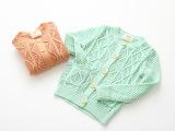 皮皮豆童装批发 2015春装新款女童圆领毛衣 纯棉蕾丝甜美针织衫