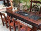 玉溪复古老船木茶桌椅组合中式小户型现代简约阳台茶几