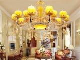 餐厅吊灯 法式水晶吊灯 陶瓷吊灯