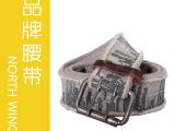 2012新款 帆布印花纯棉 编织腰带 厂家直销 外贸原单EF10