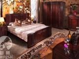 武汉红木家具回收商店 大红酸枝木家具回收 卧室红酸枝木家具