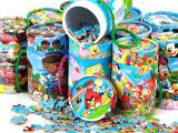 新款木制儿童益智早教玩具 80片桶装卡通