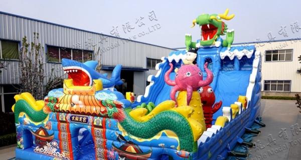 大型充气城堡;水上乐园 ;水上冲关;陆地冲关;水上滑梯等