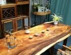 南美胡桃木琥珀木原木风原生态实木大板家家具