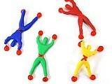爬墙人 粘性蜘蛛侠 爬墙超人 翻墙小人 传统地摊小玩具批发 热卖