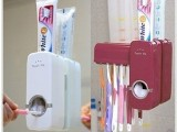 厂家直销  创意懒人牙刷架套装 全自动挤牙膏器