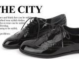 2013新品春鞋英伦风复古雕花系带平底平跟小皮鞋牛津鞋中性女单鞋