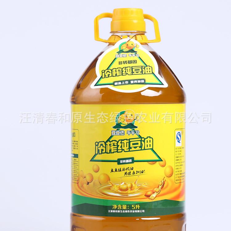 豆豆佳 冷榨纯豆油 非转基因大豆 健康食用油 5L 家庭食用油