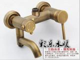 淋浴花洒套装批发 全铜仿古古铜淋浴花洒套装   仿古铜淋浴批发