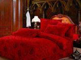 床上用品批发婚庆火红色四件套热销婚庆结婚四件套磨毛四件套KZ04
