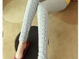 韩国代购孕妇装 新款孕妇裤 托腹裤 托腹长裤 蕾丝拼接孕妇打底裤