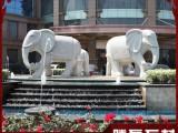 石雕大象 A级汉白玉雕刻大象现货 福建石雕大象厂家