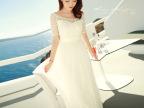 波西米亚长裙2015夏季新款白色一字领镂空雪纺连衣裙假沙滩长裙