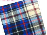 厂家供应印花摇粒绒  半光印花摇粒绒格子特价批发  针织面料