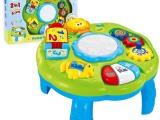 【澄海玩具城】婴儿灯光音乐手拍鼓学习桌 1-3岁儿童益智早教玩具
