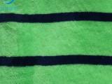 双面珊瑚绒时尚条纹印花服装睡衣四件套面料