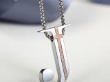 欧美设计款基督教饰品钛钢镀金男女款十字架耶稣项链定制源头厂家