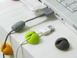 供应电线收纳 彩色万能桌面固线夹固线器电线固定器整理器 6个装