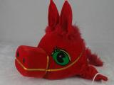厂家直销儿童演出服 红马棕马演出帽子 动物表演服亲子头饰
