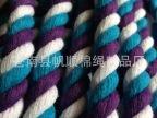 厂家直销白蓝紫三股棉绳玩具配件绳手拉箱包绳包芯来样定制