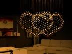 婚庆浪漫心形灯饰卧室灯餐厅灯水晶灯吧台吊灯现代水晶吊灯具X239