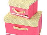 专业定制韩版美人心有盖整理箱箱二件套无纺布储物收纳箱