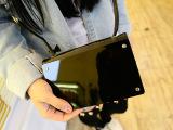 韩国镜面小包 镜子单肩斜跨迷你包 黑色iphone5_5s手机包