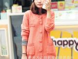 地摊货源热卖秋装 毛衣女式V领长袖开衫  韩国女装开胸针织羊毛衫