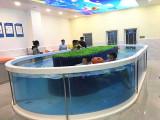 成都可靠寶寶游泳玻璃池設備全透明
