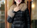 厂家直销批发2013新款韩版短款大毛领休闲时尚袖口带毛羽绒服女