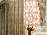 加厚色织双层大提花布 沙发窗帘面料 60支涤纱 克重900GSM