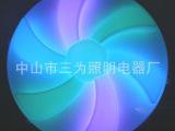 厂家直销大量LED300mm风炎轮外壳 点光源塑料灯具配件外壳