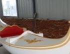 天龙木船 纯手工制造贡多拉单篷船乌篷船