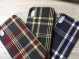 肖战同款英伦格纹商务风iphone7手机壳个性简约8P情侣