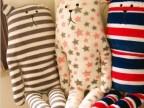 梨花波点兔条纹熊星星熊长抱枕 公仔 毛绒玩具 靠垫 大号 礼物 女