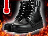 军靴包邮充电保暖鞋功能鞋冬季加热鞋中高帮鞋充电鞋子鞋雪地靴