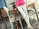 2014新款韩版糖果色显瘦打底裤 斜纹梭织带扣拉链小脚铅笔裤批发